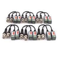 CCTV Camera BNC Video Balun Passive Cat5 UTP Coaxial Cable Adapter 12pcs