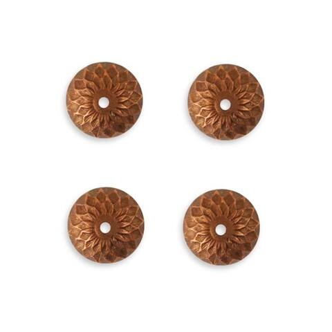 Vintaj Artisan Copper Acorn Bead Caps 12.5mm (4)