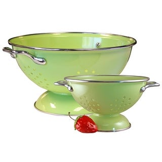 Reston Lloyd Colander Set, 1qt and 3qt, Lime