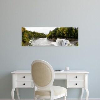 Easy Art Prints Panoramic Image 'Waterfall, Tahquamenon Falls, Tahquamenon Falls Park, Chippewa, Michigan' Canvas Art