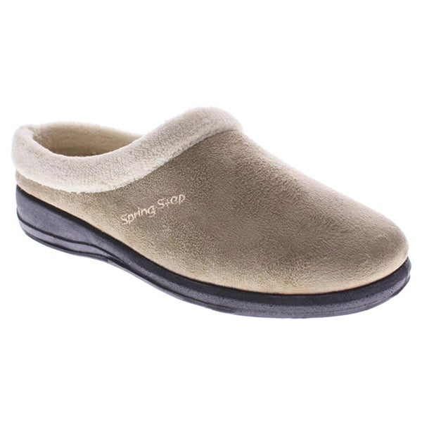 Women's Ivana Clog-Style Suede Slippers