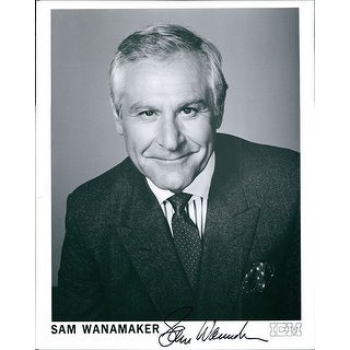 Signed Wanamaker Sam BW 8x10 Promo Photo autographed