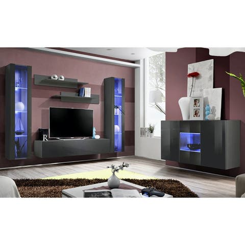 Fly SBII-A2 Wall Mounted Floating Modern Entertainment Center
