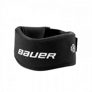 Bauer Adult NLP7 Nectech Collar. Black Antimicrobial Protection, Velcro. 1042882