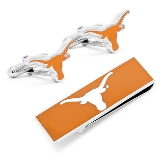 University of Texas Longhorns Cufflinks and Money Clip Gift Set - Orange