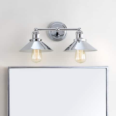 "June 17.5"" 2-light Metal Vanity Light, Chrome by JONATHAN Y"