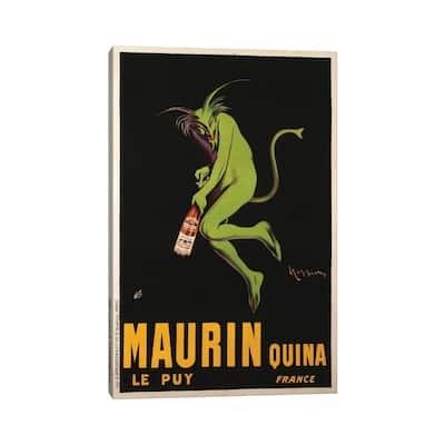 """iCanvas """"Maurin Quina Advertisement, c.1922"""" by Leonetto Cappiello Canvas Print"""