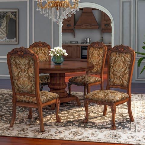 Gracewood Hollow Draskhana Antique Oak Side Dining Chairs (Set of 2)