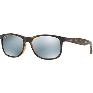 Ray Ban Andy 55mm Sunglasses (Tortoise Frame/Silver Flash Polarized Lenses)