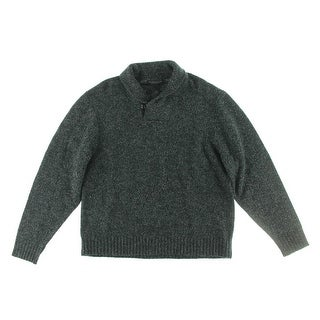 The Men's Store Mens Merino Wool Marled Pullover Sweater