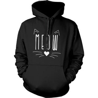 Meow Cute Kitty face Women's Hoodie Gift for Cat Lovers Hooded Sweatshirt