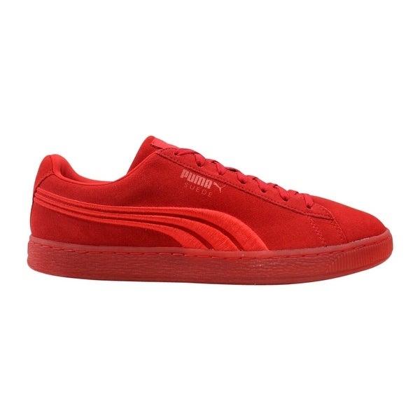 Shop Puma Suede Classic Badge Iced High Risk Red 364483 01