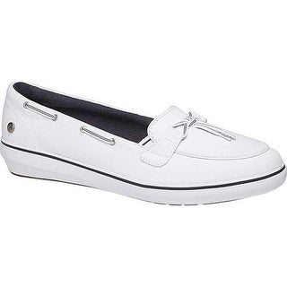 Grasshoppers Women's Windsor Lace Core Boat Shoe White Canvas