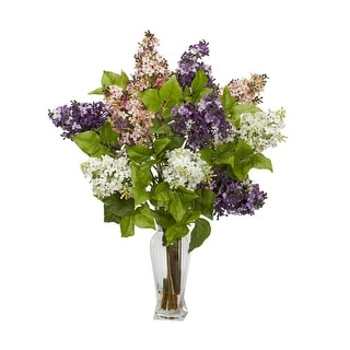 Nearly Natural Lilac Silk Flower Arrangement