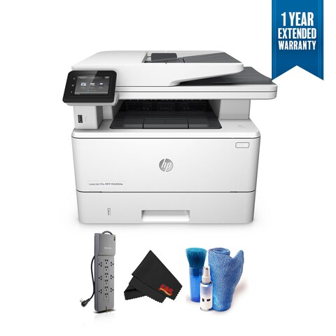HP LaserJet Pro M426fdw All-in-One Multifunction Wireless Laser Printer Bundle with 1 Year Extended Warranty + Surge Protector