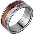 Titanium Wedding Band With Koa Wood & Mother of Pearl Inlay 3mm - Thumbnail 0