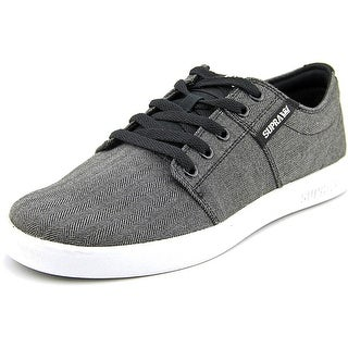 Supra Stacks II Mens Black Textile Lace Up Sneakers Shoes
