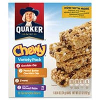 Chewy Granola Bars, Variety Pack, 6.7oz., 8-BX,