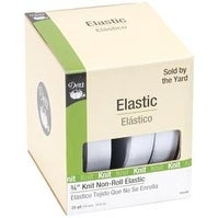 "White - Dritz Non-Roll Knit Elastic 3/4""X25yd"