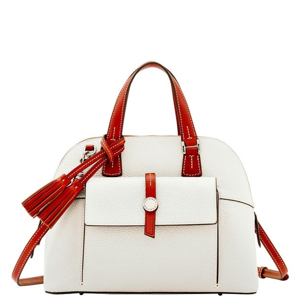 Dooney & Bourke Cambridge Zip Satchel (Introduced by Dooney & Bourke at $328 in Dec 2016) - White