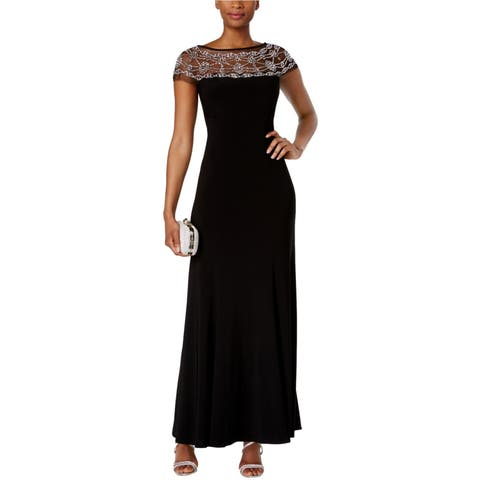 R&M Richards Womens Beaded A-Line Gown Dress - 18