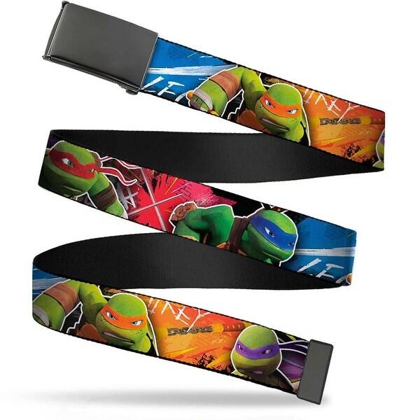 Blank Black Buckle Teenage Mutant Ninja Turtles New Series Character Web Belt