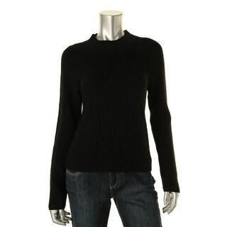 Lauren Ralph Lauren Womens Petites Pullover Sweater Ribbed Knit Raglan