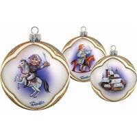 Holiday Splendor Glass Nutcracker Ball 3.5 in. - Glass Ornament