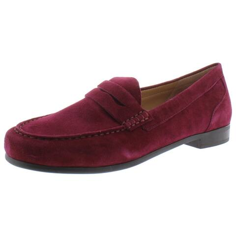 Array Womens Harper Loafers Solid Moc Toe