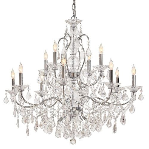 Metropolitan n8008 12 light 2 tier candle style crystal chandelier metropolitan n8008 12 light 2 tier candle style crystal chandelier from the vintage crystal collection silver free shipping today overstock mozeypictures Choice Image
