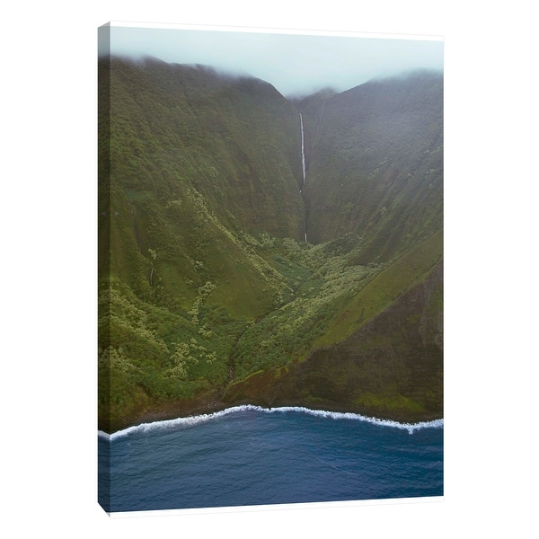"""PTM Images 9-108822 PTM Canvas Collection 10"""" x 8"""" - """"Waterfall Landscape"""" Giclee Mountains Art Print on Canvas"""