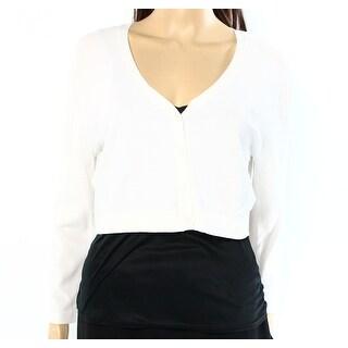 Lauren Ralph Lauren NEW White Womens Size Large L Cropped Cardigan