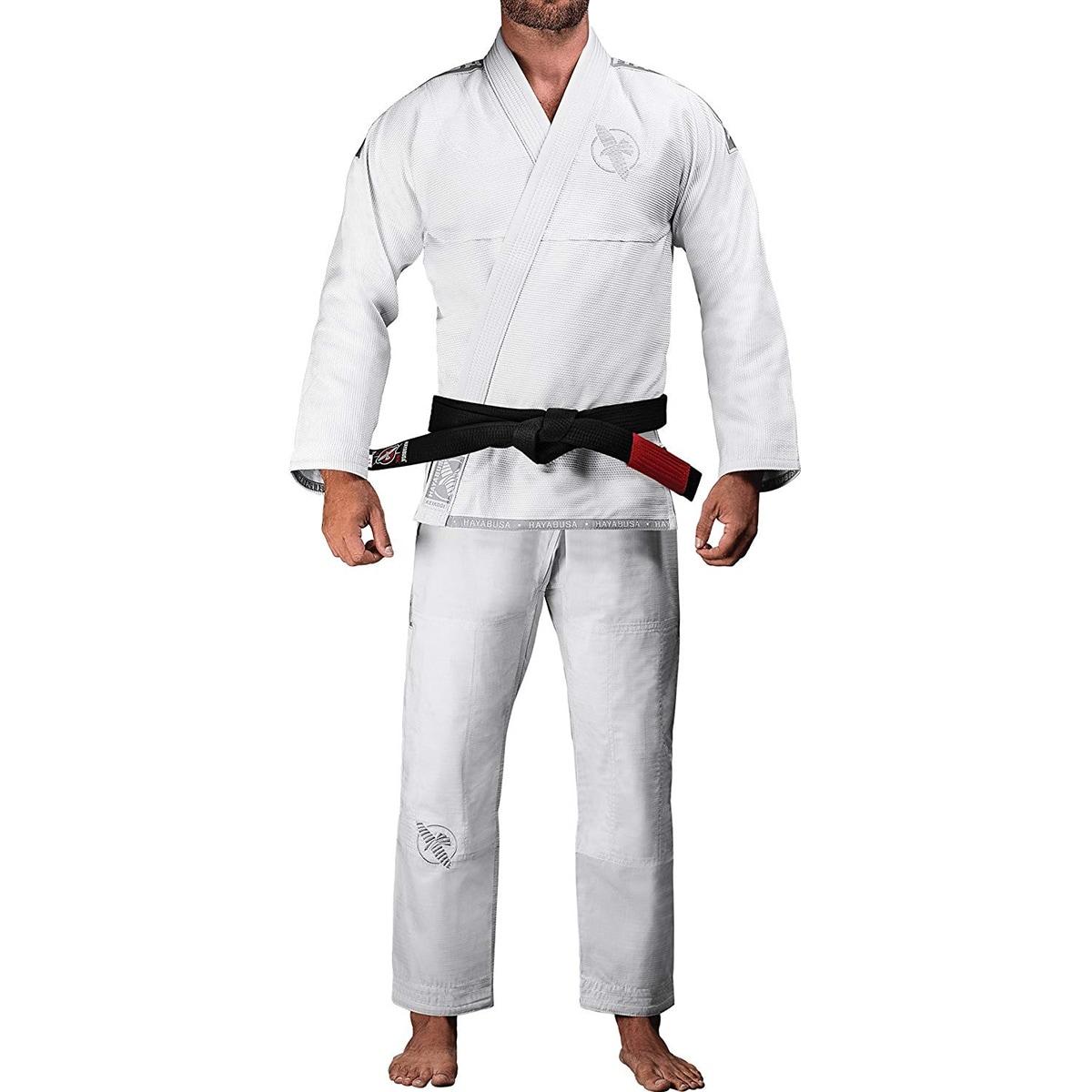 White Hayabusa Lightweight Pearl Weave Jiu-Jitsu Gi