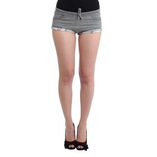Ermanno Scervino Ermanno Scervino Lingerie Gray Mini Shorts Sleepwear Hotpants - it2-s
