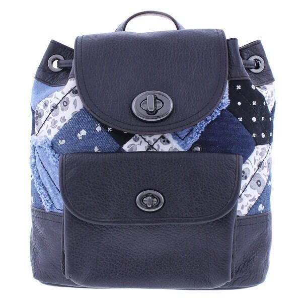 cc88732fb63 ... usa coach womens backpack leather denim d5ed3 fc301 ...