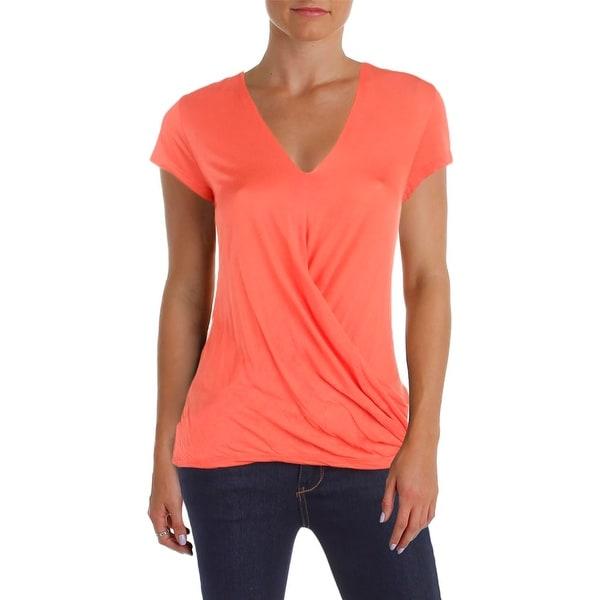 d5c54dc00be3e Shop Cable   Gauge Womens T-Shirt V-Neck Faux Wrap - Free Shipping ...