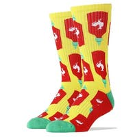 Holy Sriracha! Men's Crew Socks - Yellow