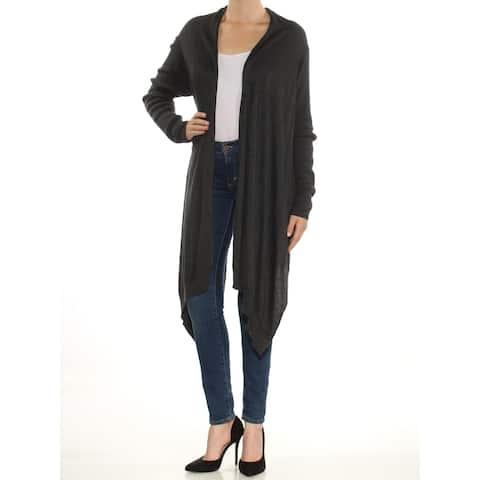 DKNY Womens Gray Long Sleeve Open Cardigan Sweater Size: M