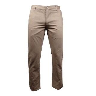 Dockers Men's Slim-Fit Textured Khaki Pants (Timberwolf, 34x30) - timberwolf - 34X30