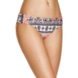 Becca by Rebecca Virtue Womens Printed Bikini Swim Bottom Separates