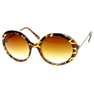 Link to Womens Oversized Fashion Metal Arm Circle Round Sunglasses Similar Items in Women's Sunglasses