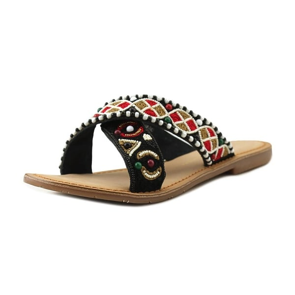 Chinese Laundry Z-Charo Women Open Toe Leather Multi Color Slides Sandal