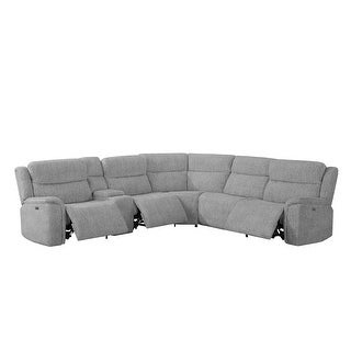 Link to Darien Light Grey 6-piece Modular Power^2 Sectional Similar Items in Living Room Furniture