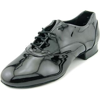 "Capezio Tony Smooth 1"" Men W Round Toe Patent Leather Black Dance"
