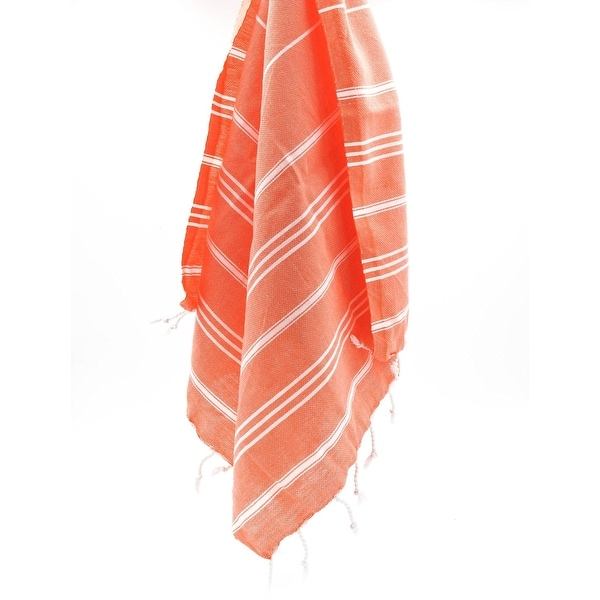 Shop Turkish Cotton Coral Color XXL BeachBath TowelThrowBlanket Gorgeous Coral Colored Throw Blanket