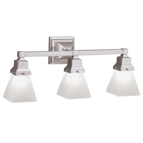 "Norwell Lighting 8123 Birmingham 9"" Tall 3 Light Bathroom Vanity Light with White Glass Shades"