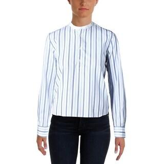 Polo Ralph Lauren Womens Henley Top Striped Cotton