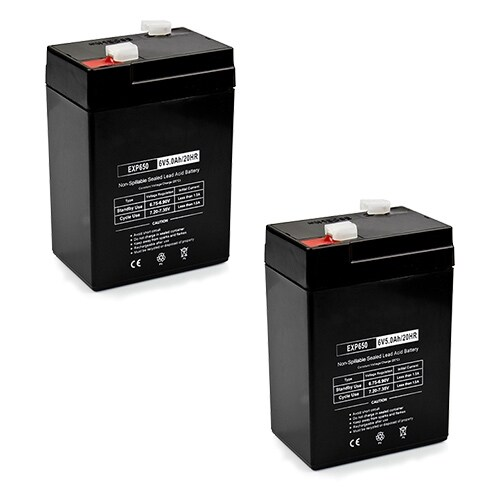 Replacement AGM SLA Battery 6V-5Ah (2-Pack) Replacement AGM SLA Battery