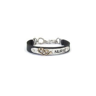 Nurse Theme Leather Band Bracelet