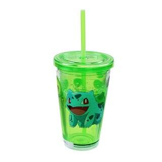Pokemon Bulbasaur 18oz Carnival Cup w/ Floating Confetti Pokeballs - Multi